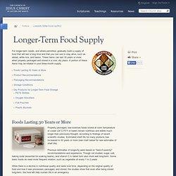 Longer-Term Food Supply