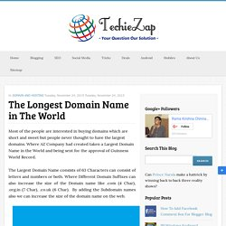 The Longest Domain Name in The World