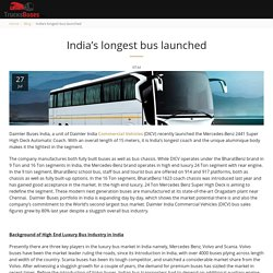 India's longest bus launched - TrucksBuses