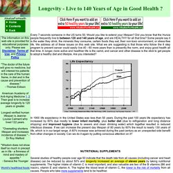 Alkalize For Health - Longevity - Live to 140 years of age in good health? - Cancer Alternatives