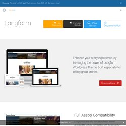 Longform - Long-form Stories WordPress Theme