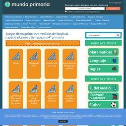 Juegos de Medidas de longitud, pesos y capacidad para 4º primaria