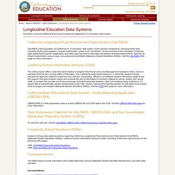 Longitudinal Education Data Systems - Data Collections