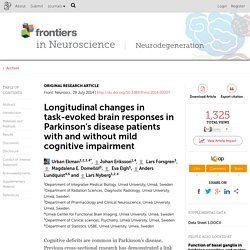 Longitudinal changes in task-evoked brain responses in Parkinson's disease patients with and without mild cognitive impairment