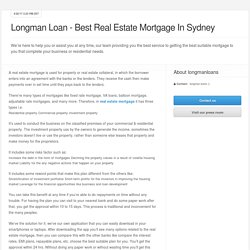 Longman Loan - Best Real Estate Mortgage In Sydney