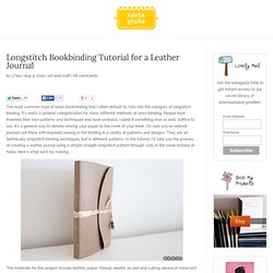 Longstitch Bookbinding Tutorial for a Leather Journal | tortagialla.com - the virtual creative journal of Artist Linda Tieu