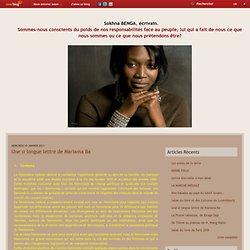 Une si longue lettre de Mariama Ba - Le blog de Sokhna BENGA, Ecrivain.