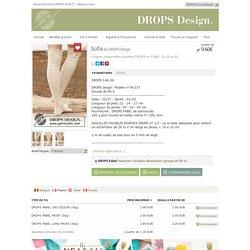 Sofia - Longues chaussettes ajourées Drops en Fabel