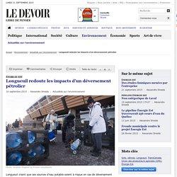 Longueuil redoute les impacts d'un déversement pétrolier