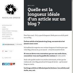 Quelle est la longueur idéale d'un article sur un blog ?
