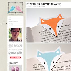 Printables: Foxy Bookmarks