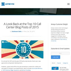 A Look Back at the Top 10 Call Center Blog Posts of 2015