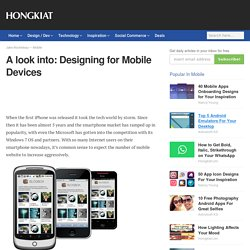A look into: Designing for Mobile Devices