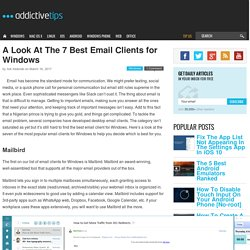 A Look At The 7 Best Email Clients for Windows