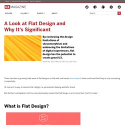 A Look at Flat Design and Why It's Significant