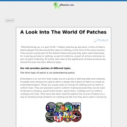 A Look Into The World Of Patches
