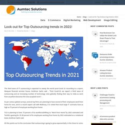 Look out for Top Outsourcing trends in 2021!