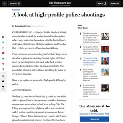A look at high-profile police shootings