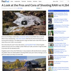 A Look at the Pros and Cons of Shooting RAW vs H.264