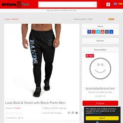 Look Bold & Smart with Black Pants Men Article