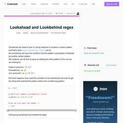 Lookahead and Lookbehind regex