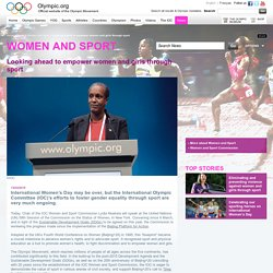 Looking ahead to empower women and girls through sport