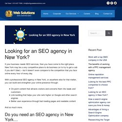 Looking for an SEO agency in New York? - Antigua Web Solutions
