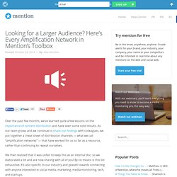 Looking for a Larger Audience? Here's Every Amplification Network in Mention's Toolbox - The Mention Blog