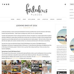 Looking back at 2016 – Fabulous Places
