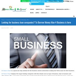Looking for business loan companies? To Borrow Money Man 4 Business is here