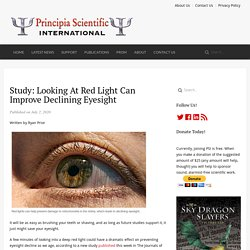 Study: looking at red light can improve declining eyesight