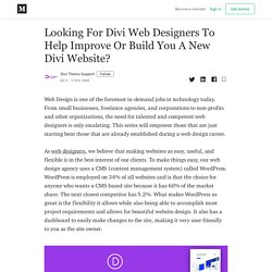 Looking For Divi Web Designers To Help Improve Or Build You A New Divi Website?