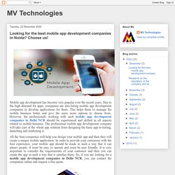 Looking for the best mobile app development companies in Noida? Choose us!