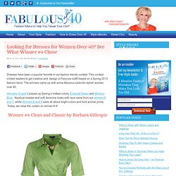 Looking for Dresses for Women Over 40 - See What Winner #4 Chose