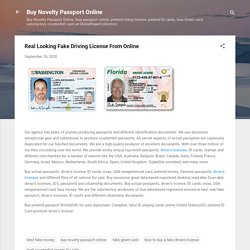 Real Looking Fake Driving License From Online