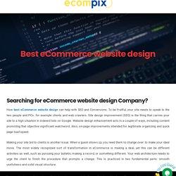 best ecommerce website design - Ecompix ecommerce