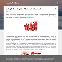 Looking for Fire extinguishers? Get in touch with us today!