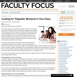 Looking for 'Flippable' Moments in Your Class