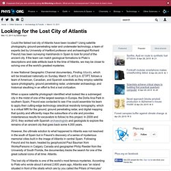 Looking for the Lost City of Atlantis