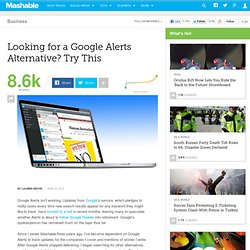 Looking for a Google Alerts Alternative? Try This