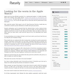 Looking for the worm in the Apple Watch?