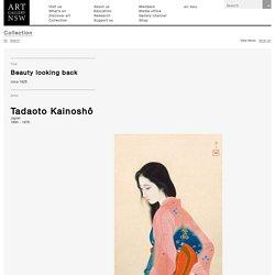 Beauty looking back, (circa 1928) by Tadaoto Kainoshô