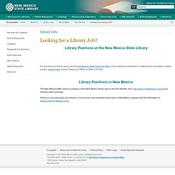 Looking for a Library Job?