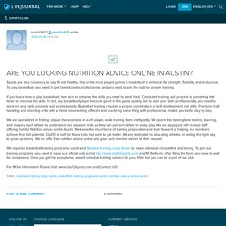 ARE YOU LOOKING NUTRITION ADVICE ONLINE IN AUSTIN?: sportclub1