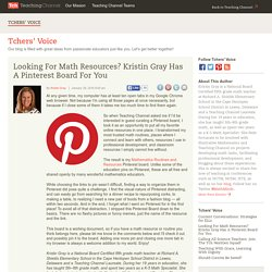 Looking For Math Resources? Kristin Gray Has a Pinterest Board For You