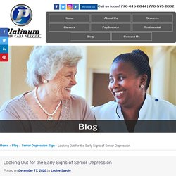 Looking Out for the Early Signs of Senior Depression