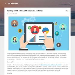 Looking for HR software? Here are the best ones