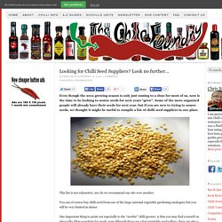 Looking for Chilli Seed Suppliers? Look no further…