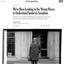 We've Been Looking in the Wrong Places to Understand Sanders's Socialism