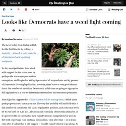 Looks like Democrats have a weed fight coming